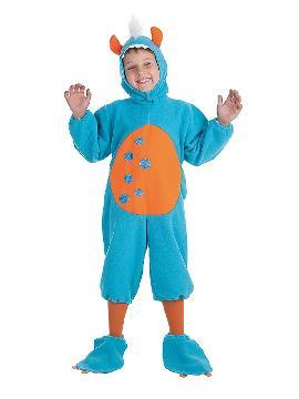 disfraz de monstruito azul para niño