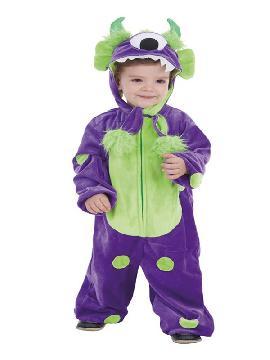 disfraz de monstruito morado para niño