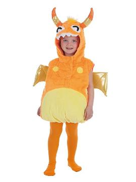 disfraz de monstruito naranja para niños
