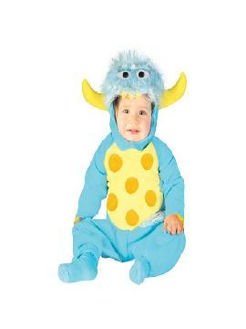 disfraz de monstruo para bebe 12 a 24 meses. El más pequeño de la casa se transformará el personaje principal de Monstruos SA. Verás como le encantará dar sustos a sus amiguitos en Carnaval,o Fiestas Temáticas. Este disfraz es ideal para tus fiestas temáticas de disfraces de animales para bebes.