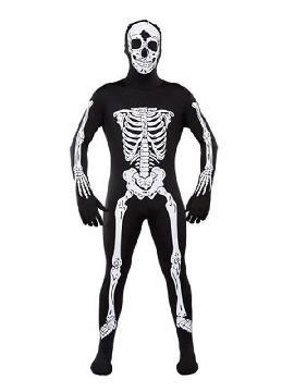 disfraz de morphsuits esqueleto adulto