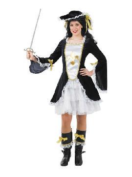 disfraz de mosquetera clasica mujer