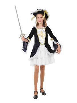 disfraz de mosquetera clasica niña