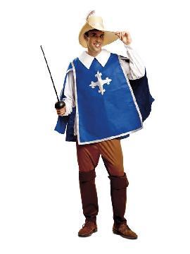 disfraz de mosquetero azul para hombre
