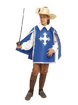disfraz de mosquetero azul para niño