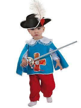 disfraz de mosquetero bebe. Los pequeños de la familia podrán vivir mil aventuras en compañía de los otros mosqueteros en fiestas temáticas y festivales escolares. Este disfraz es ideal para tus fiestas temáticas de disfraces de mosqueteros para niños.