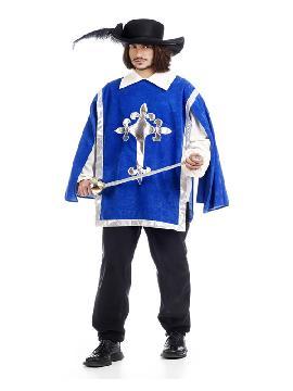 disfraz de mosquetero cruz deluxe hombre