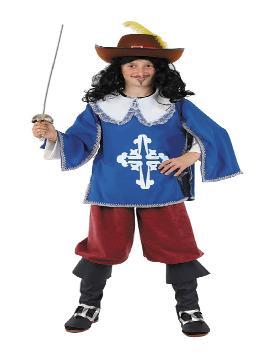 disfraz de mosquetero para niño. Compra tu disfraz barato infantil para tu grupo. Este traje es ideal para tus fiestas temáticas de mosqueteros y espadachines. fabricacion nacional