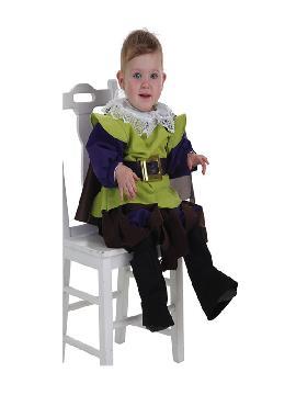 disfraz de mosquetero verde para bebe