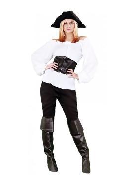 disfraz de moza pirata blanca mujer