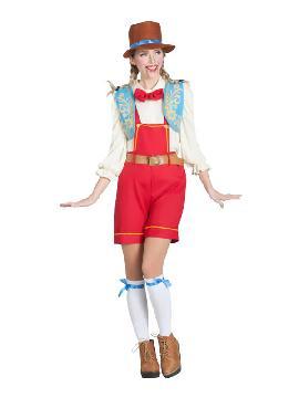 disfraz de muñeca de madera para mujer