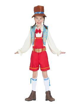 disfraz de muñeca de madera para niña