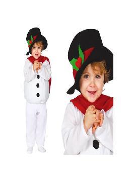 disfraz de muñeco de nieve barato niño