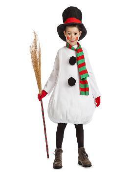 disfraz de muñeco de nieve para niño
