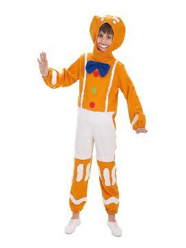 disfraz de muñeco galleta de jengibre para niño