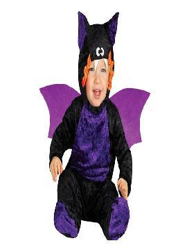 disfraz de murcielago lila bebe