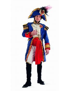 Disfraz de Napoleón deluxe hombre. Te convertirás en uno de los mayores genios militares. Forma parte de la historia y ponte al frente de la celebración en tus Fiestas Temáticas, también es perfecto para Representaciones Teatrales. fabricación nacional