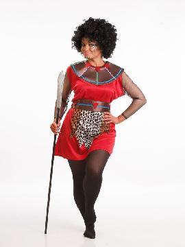 Disfraz de negra africana para mujer adulto. ves a la tribu para disfrutar del Carnaval. Este disfraz es ideal para tus fiestas temáticas de disfraces del mundo,países y regionales mujer adultos.