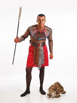 Disfraz de negro africano adulto. Únete al resto de la tribu para danzar como los masais en carnaval,despedidas. Este disfraz es ideal para tus fiestas temáticas de disfraces del mundo,países y regionales hombre adultos.