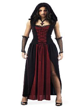disfraz de neogotica medieval deluxe mujer