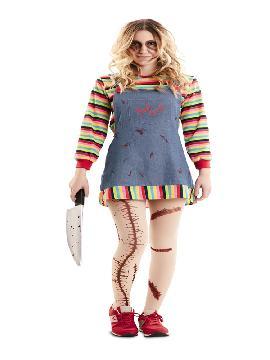disfraz de niña chucky poseida mujer