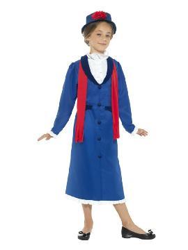 disfraz de niñera mary poppins para niña