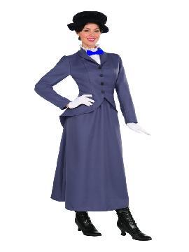 disfraz de niñera poppins deluxe mujer