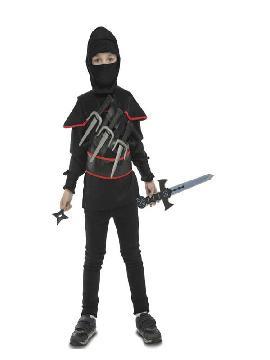 disfraz de ninja con accesorios para niños