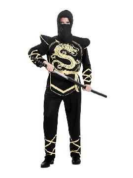 disfraz de ninja dragon dorado hombre