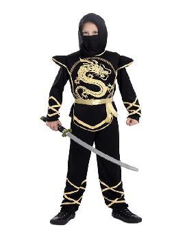 disfraz de ninja dragon dorado niño