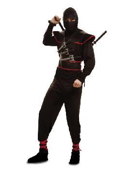 disfraz de ninja killer negro hombre