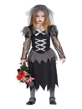 disfraz de novia cadaver para niña