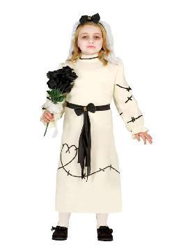 disfraz de novia fanky para niña