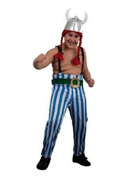 disfraz de obelix para niño.Con este traje de galo no habrá ejército que se te resista, ni romanos enemigos, en las fiestas temáticas y carnaval. Este disfraz es ideal para tus fiestas temáticas de disfraces cuentos populares, famosos y músicos infantil.