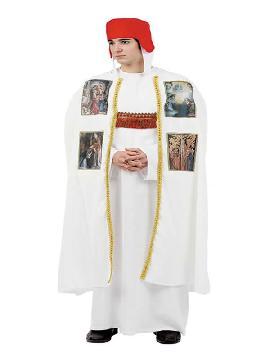 disfraz de obispo medieval hombre adulto