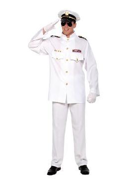 disfraz de oficial y caballero para hombre adultos. Capitán de la Marina para hombre no  habrá timón que se te resista . Es ideal para acudir a fiestas de disfraces.Este disfraz es ideal para tus fiestas temáticas de disfraces de uniformes de trabajo y deporte marineros para hombre adulto