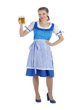 disfraz de oktoberfest azul para mujer