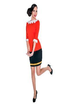 Disfraz de olivia popeye mujer. Todos los chicos de la fiesta querrán pelearse con Popeye y Brutus para convertirse en los dueños de tu corazón. Este disfraz es ideal para tus fiestas temáticas de disfraces cuentos populares,famosos y músicos y marineros para mujer adultos.