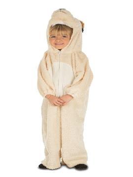 disfraz de osito polar para niño