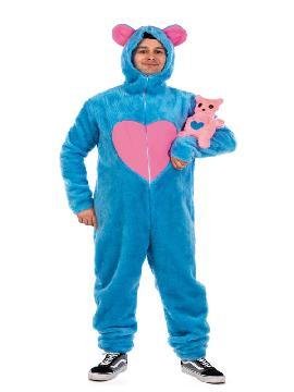 disfraz de oso amoroso azul para hombre