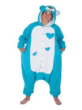 disfraz de oso de peluche azul para adultos