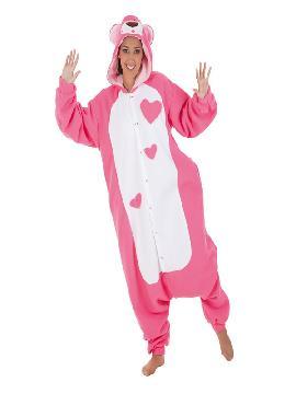 disfraz de oso de peluche rosa para adultos