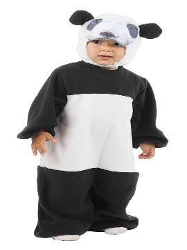 Disfraz de oso panda para bebé. Es ideal para que los pequeños de la familia se sientan auténticos animales fuertes y feroces en sus fiestas de disfraces. Este disfraz es ideal para tus fiestas temáticas de animales para infantil. fabricacion nacional