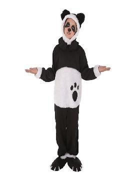 disfraz de oso panda mimoso para niño