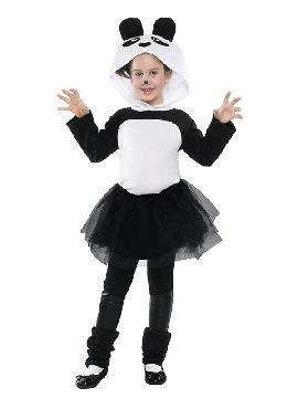 disfraz de oso panda tutu niña