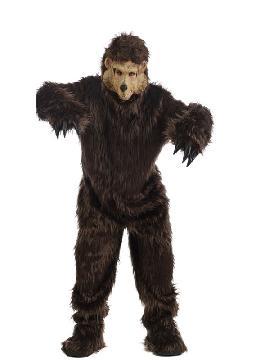 disfraz de osos pardo marron calidad hombre adulto. Con este traje imitarás a los oso más furiosos que puedes encontrar el bosque, en despedidas de soltero, fiestas tematicas y carnaval. Este disfraz es ideal para tus fiestas temáticas de disfraces de animales para adulto.