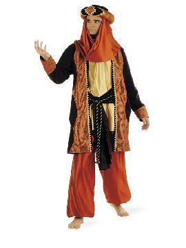 disfraz de paje caldera deluxe hombre. Te convertirá en el perfecto acompañante de los Reyes Medievales o de uno de los Magos de Oriente.Este disfraz es ideal para tus fiestas temáticas de disfraces reyes magos para adulto. fabricación nacional