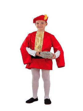 disfraz de paje gaspar niño infantil
