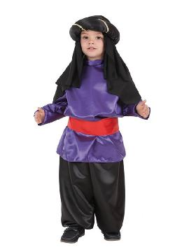 disfraz de paje real lila para niño