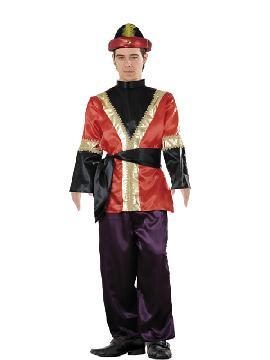 Disfraz de paje rojo hombre adulto.Te convertirá en el perfecto acompañante de los Reyes Medievales o de uno de los Magos de Oriente.Este disfraz es ideal para tus fiestas temáticas de disfraces reyes magos para hombre adulto.